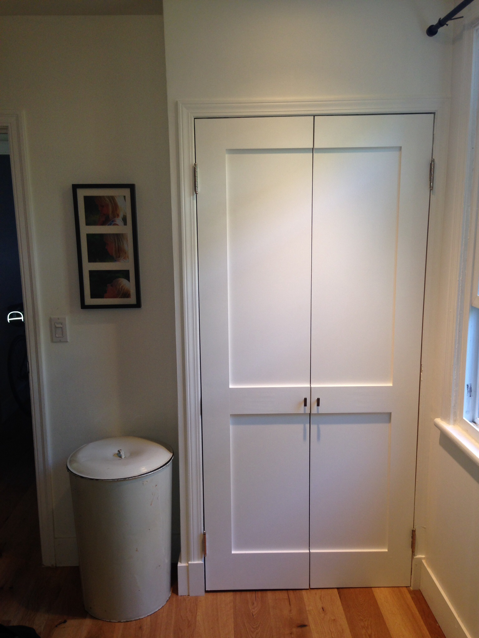 ... doors cut them down the center and install with hinges on either side. For sure there is some sizing and added trim required but in this old/new house ... & Nice Closet Door Alternative | Monica Gust